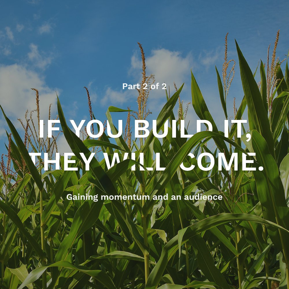 Field of Dreams - Gaining the right audience for your website or application