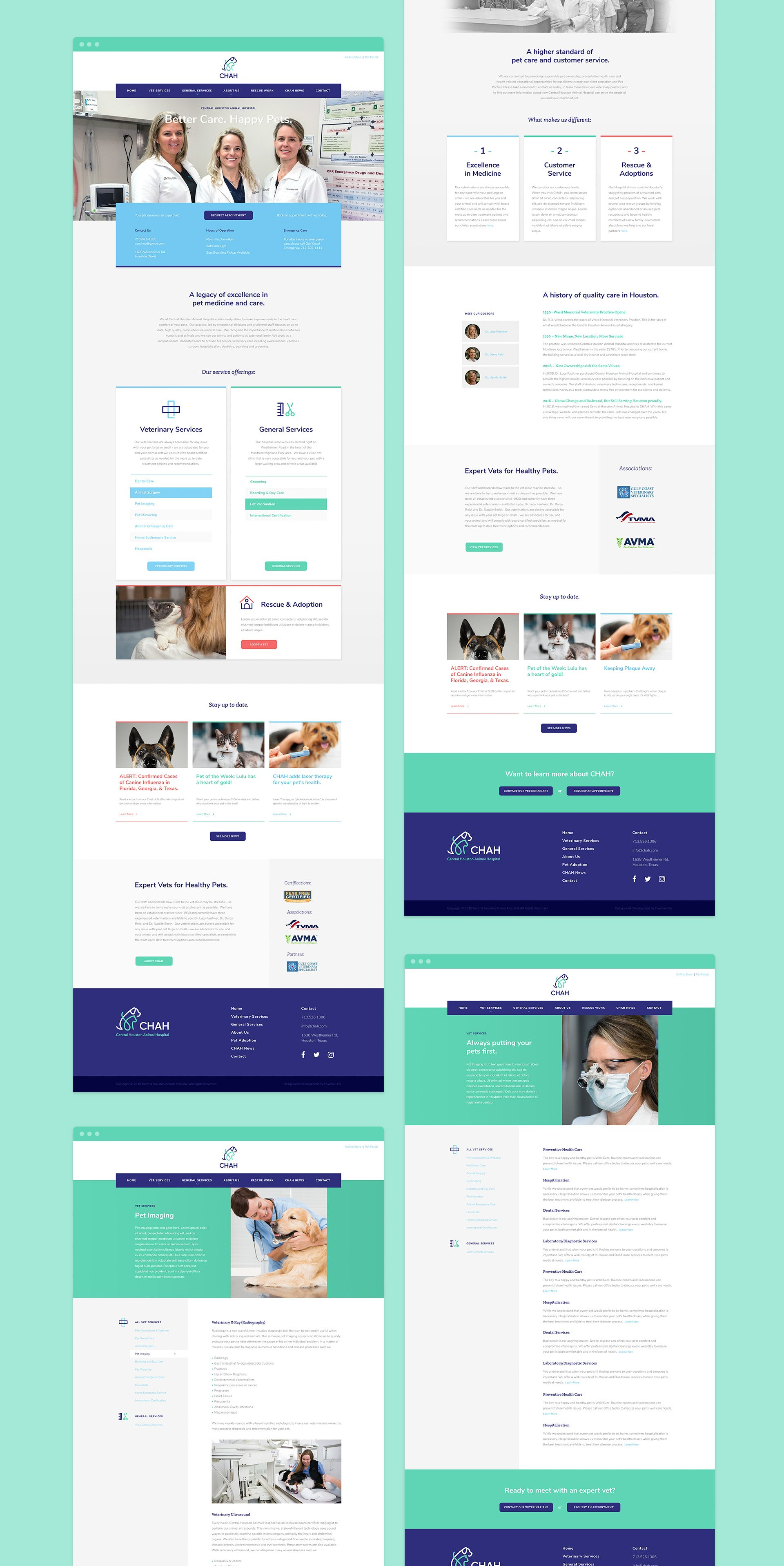 CHAH website design collage