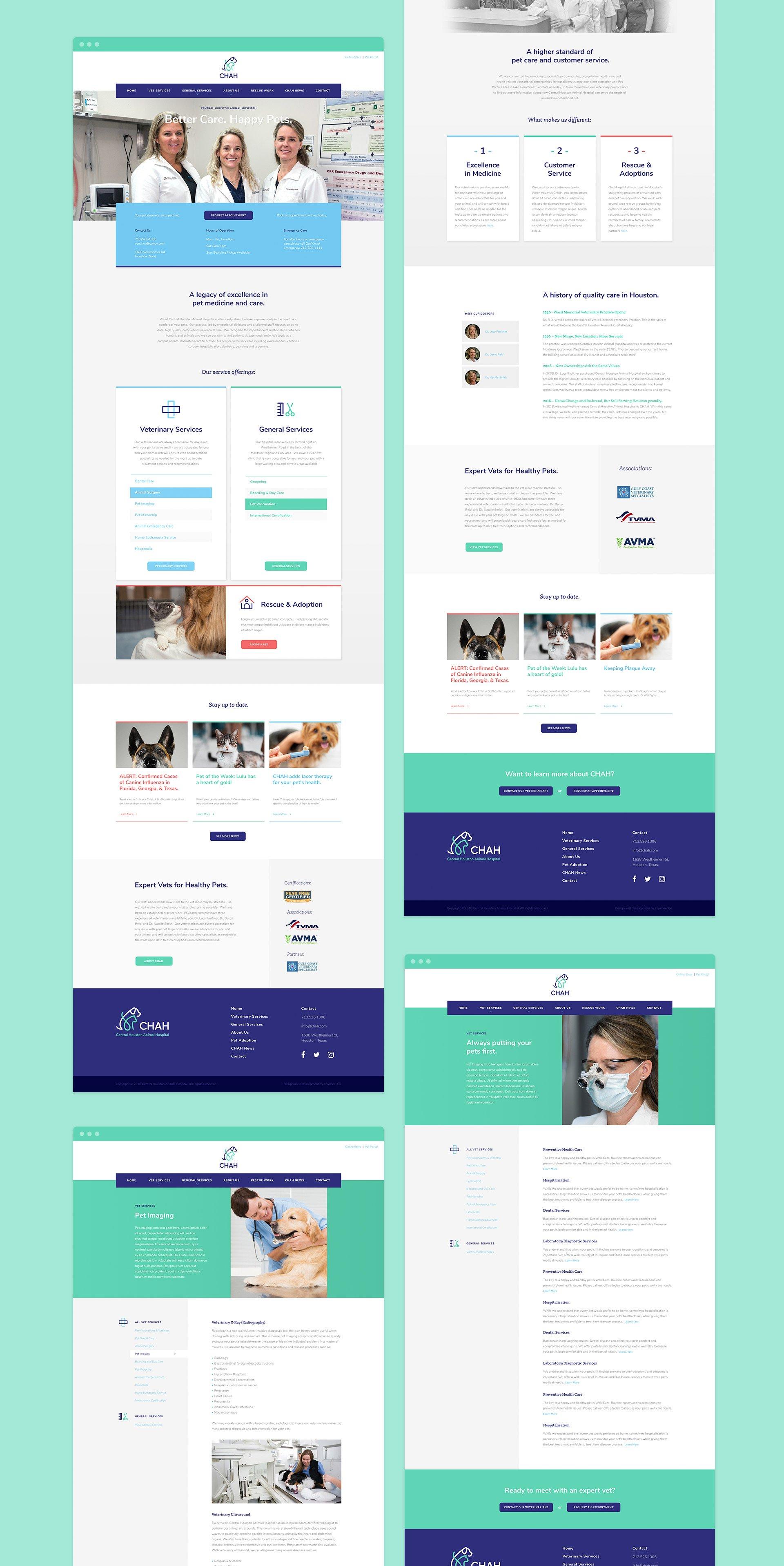 CHAH website design collage