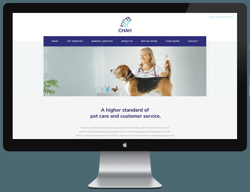 CHAH Website Design Example