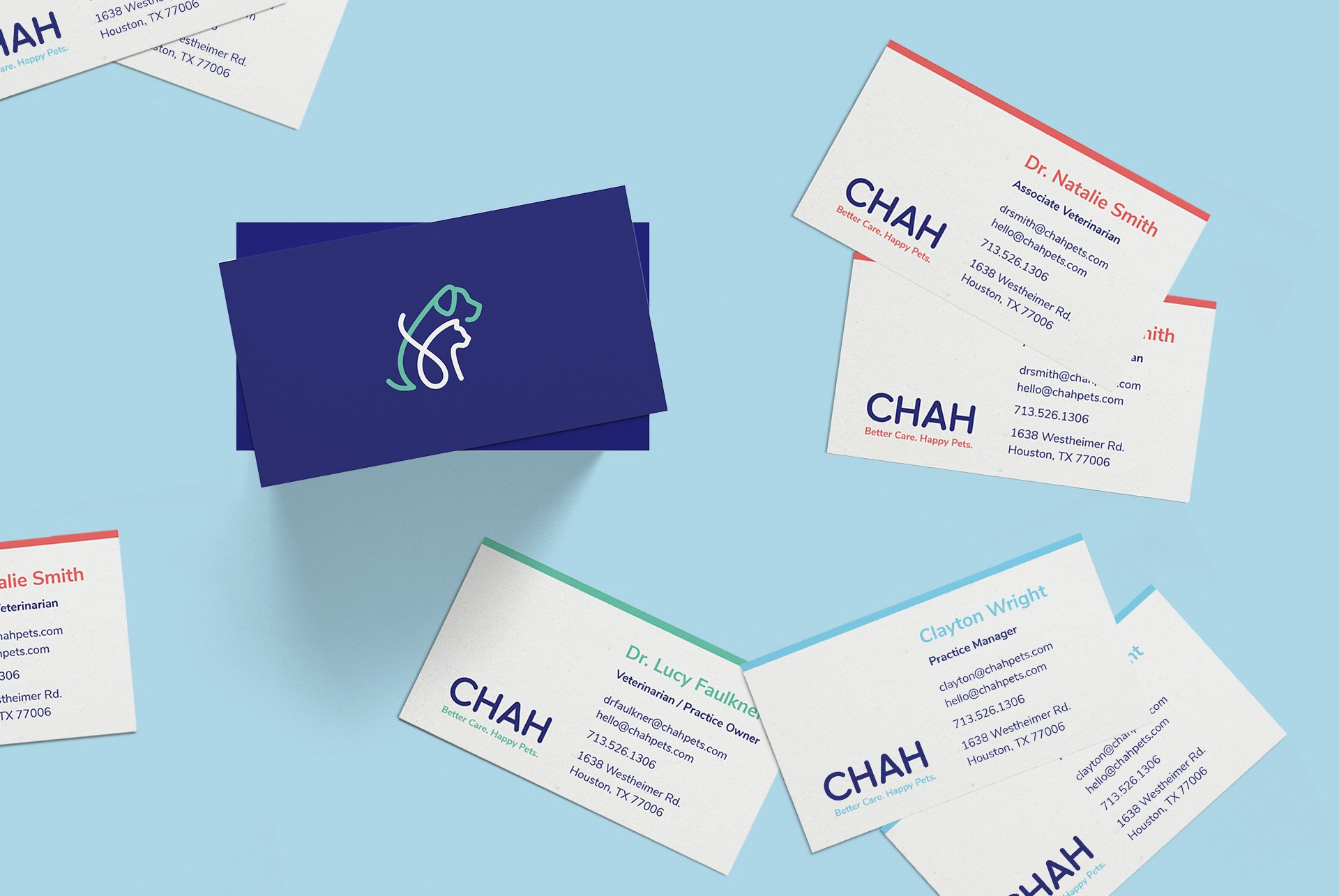 CHAH Pets Business Card Designs