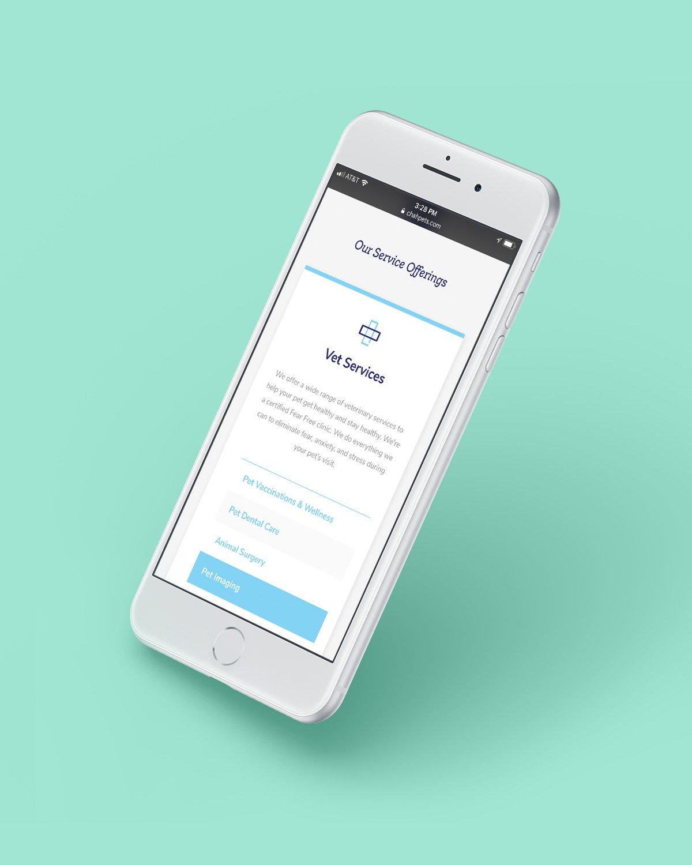 Mobile Website Design Example