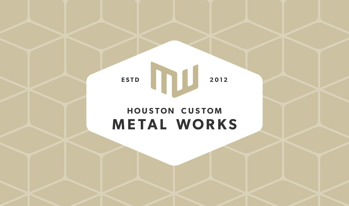 Houston Custom Metal Works Logo Variation