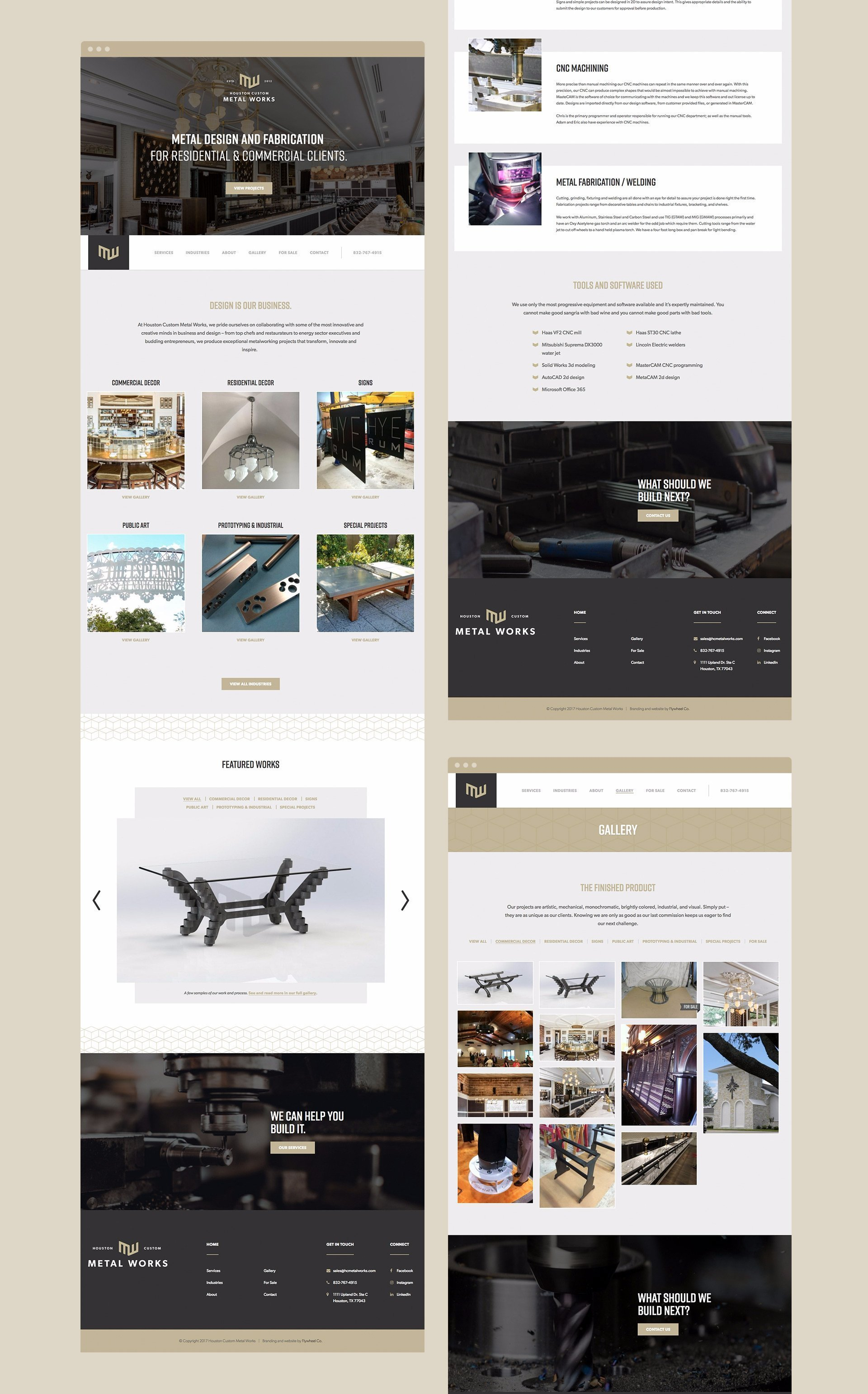 Website Design Collage