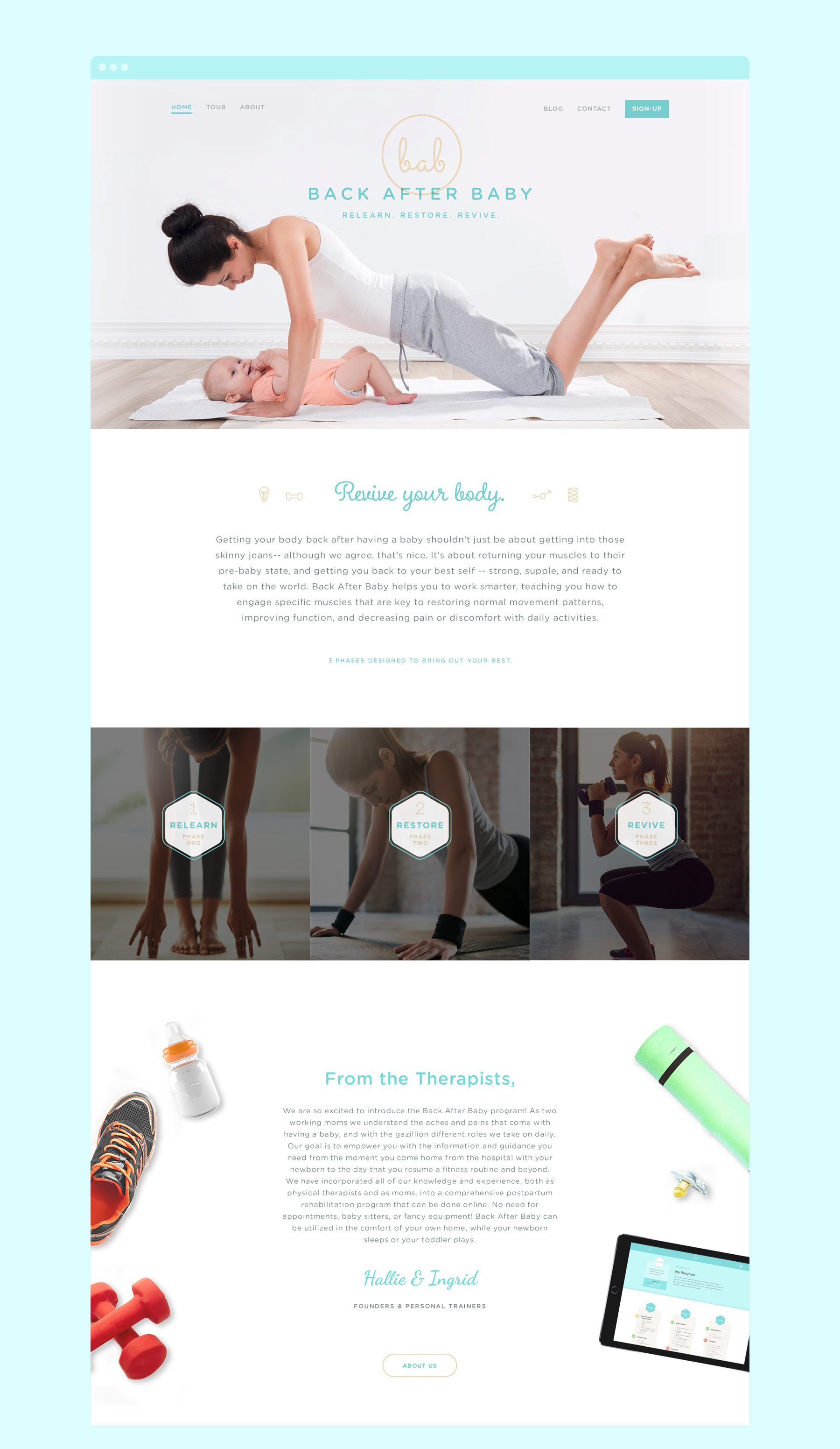 Back After Baby Website Design