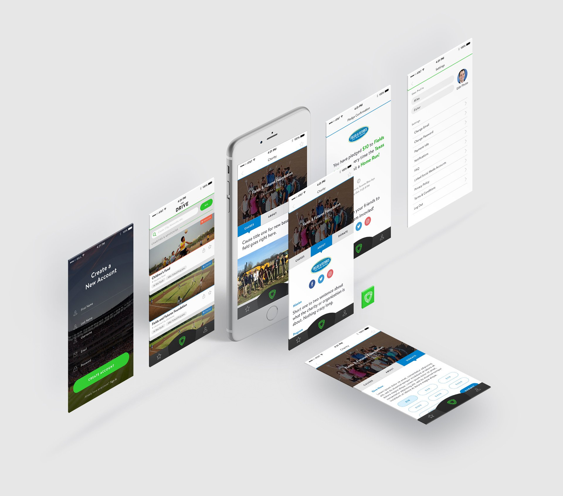 Drive Mobile App Design