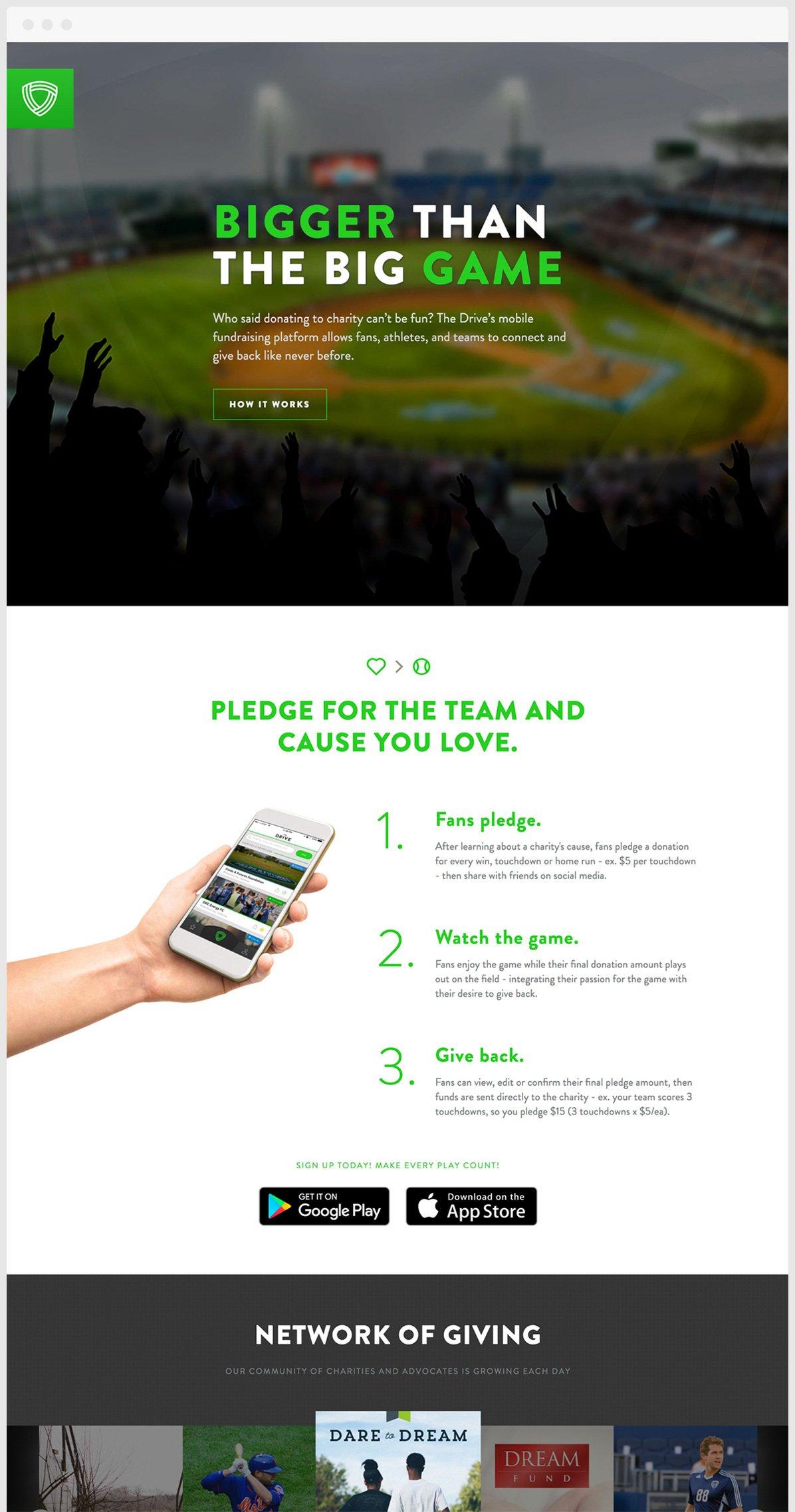 Drive Website Design Sample