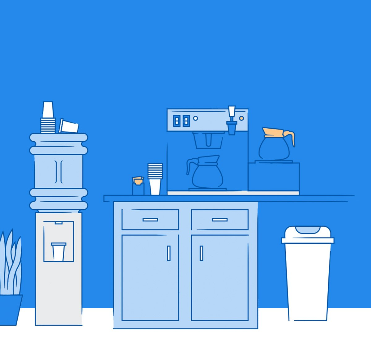 heyday coffee station illustration