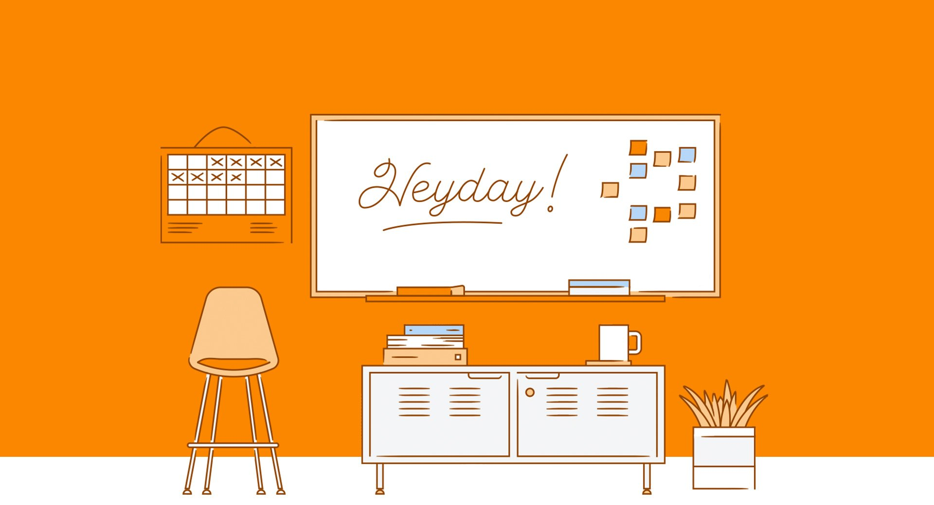 heyday white board illustration