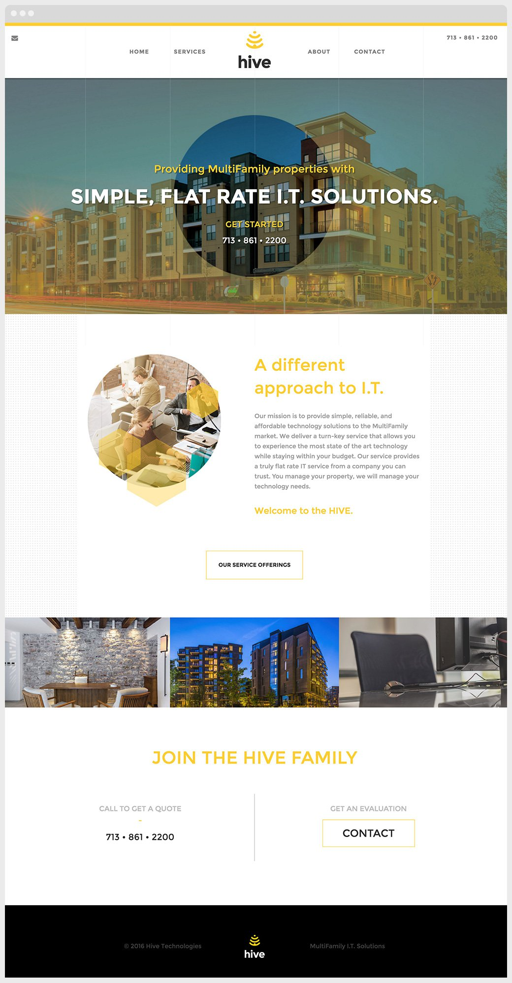 Hive Technology Website Sample