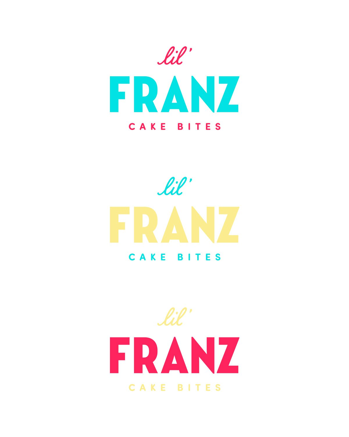 Lil' Franz logo color varieties