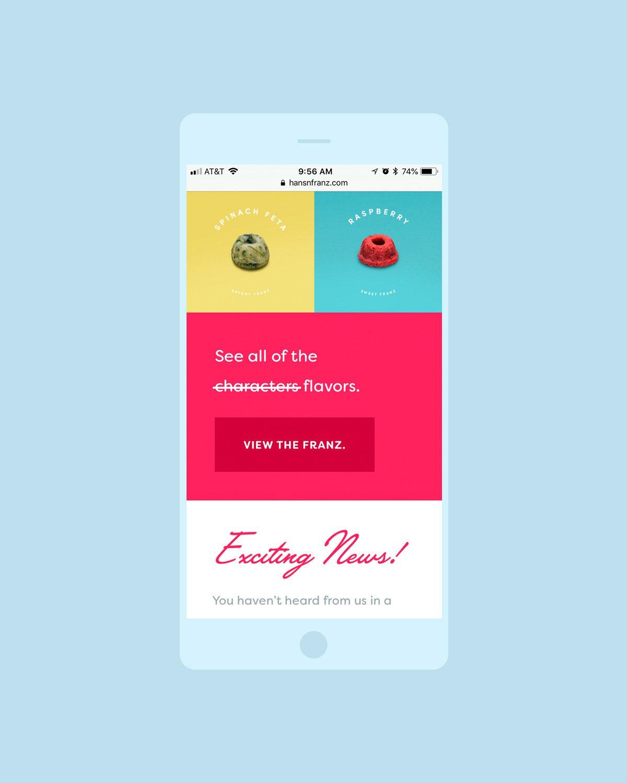 Lil' Franz responsive website design