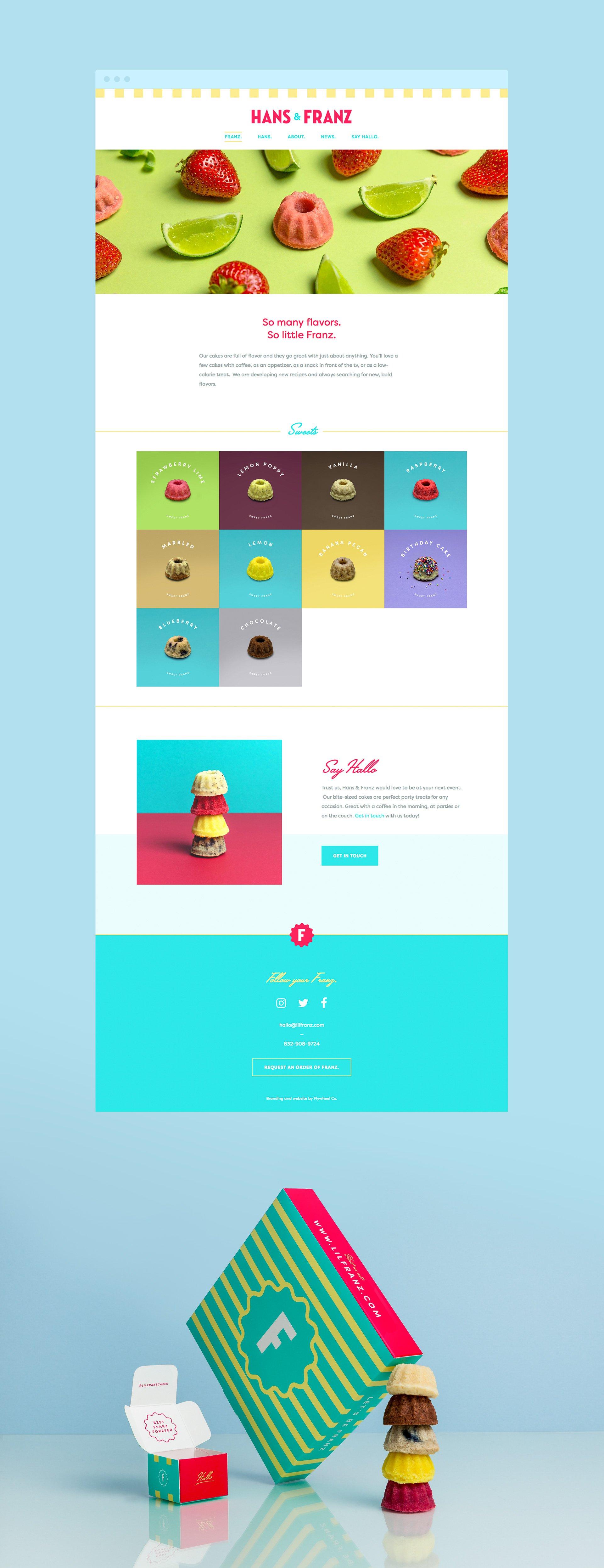 Lil' Franz Website & Packaging