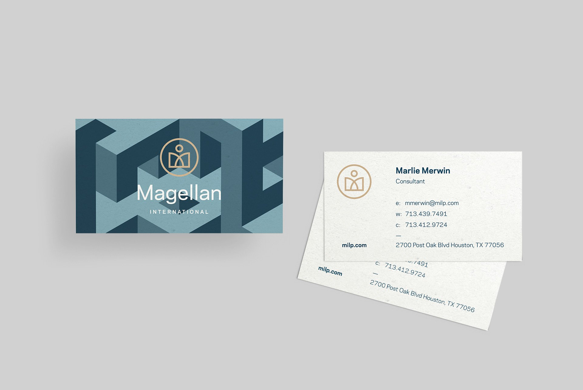 Magellan International Business Card Designs