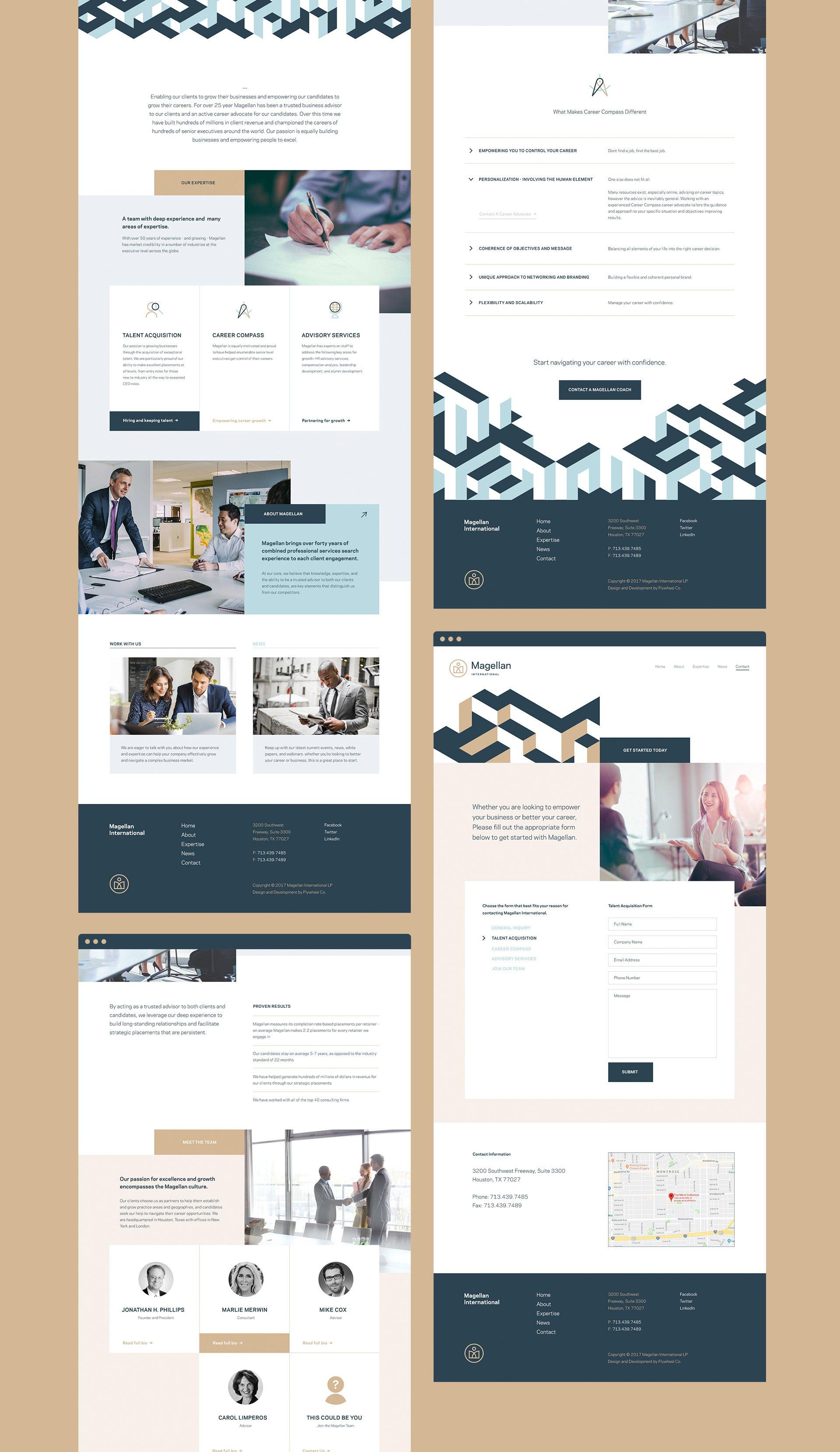 Magellan International Website Design Sample