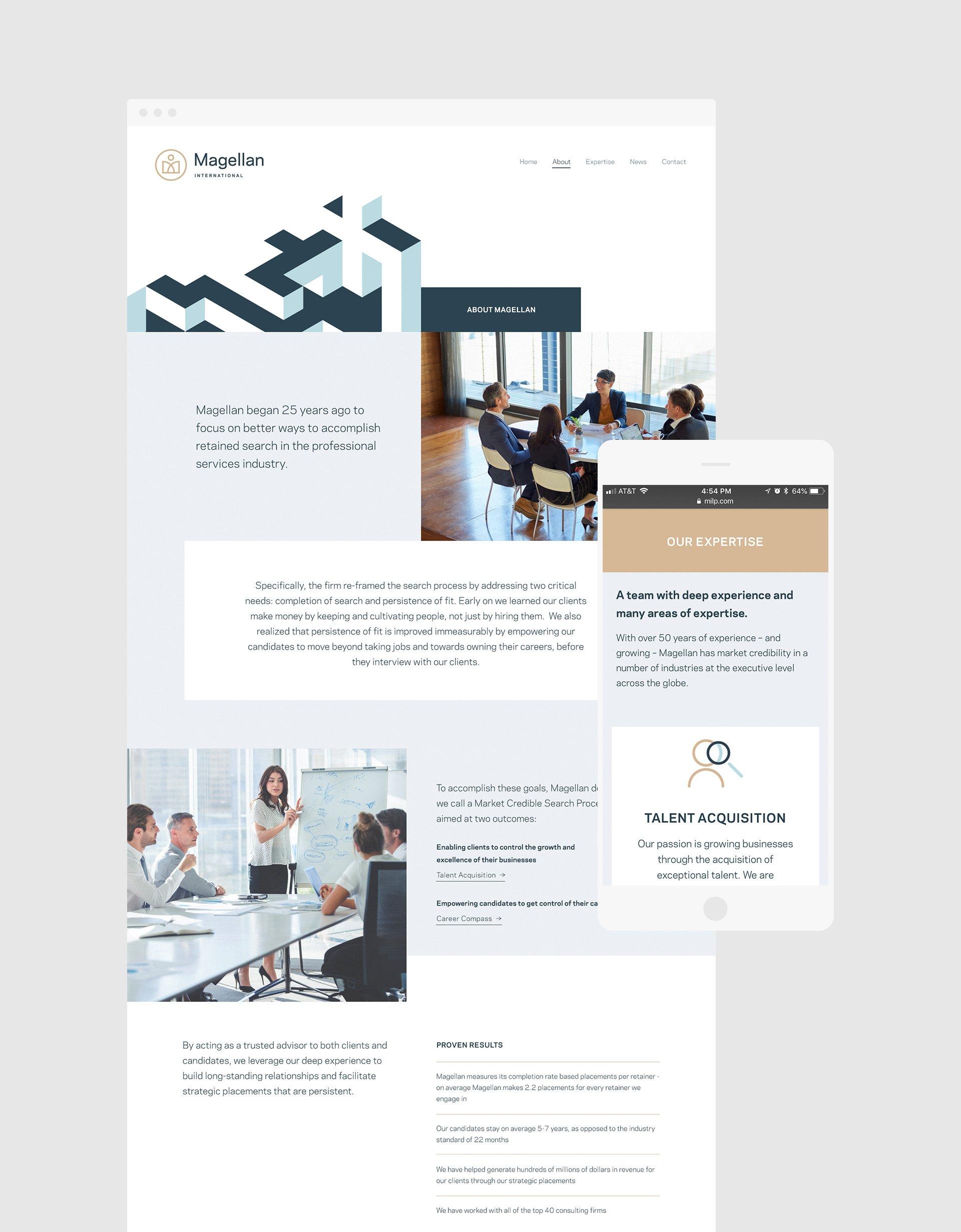 Magellan International Website Design