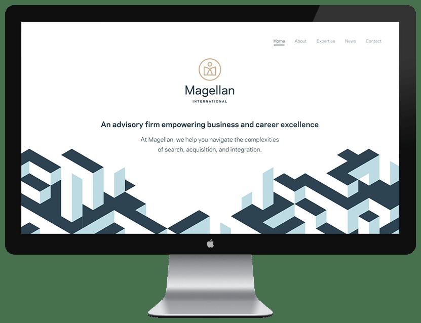 Magellan International Website Design Example