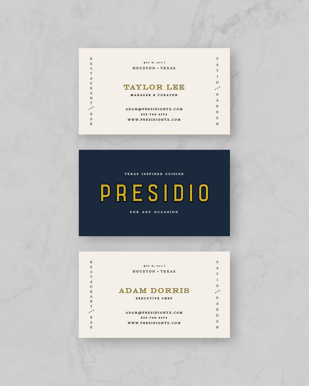 Presidio Business Card Designs