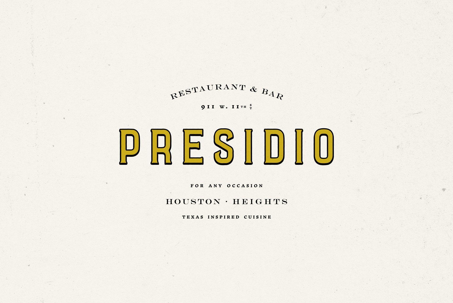 Presidio Logo Design