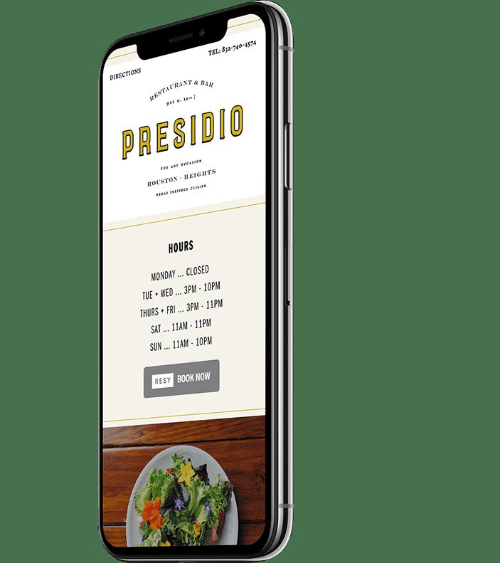 Presidio Responsive Website Design