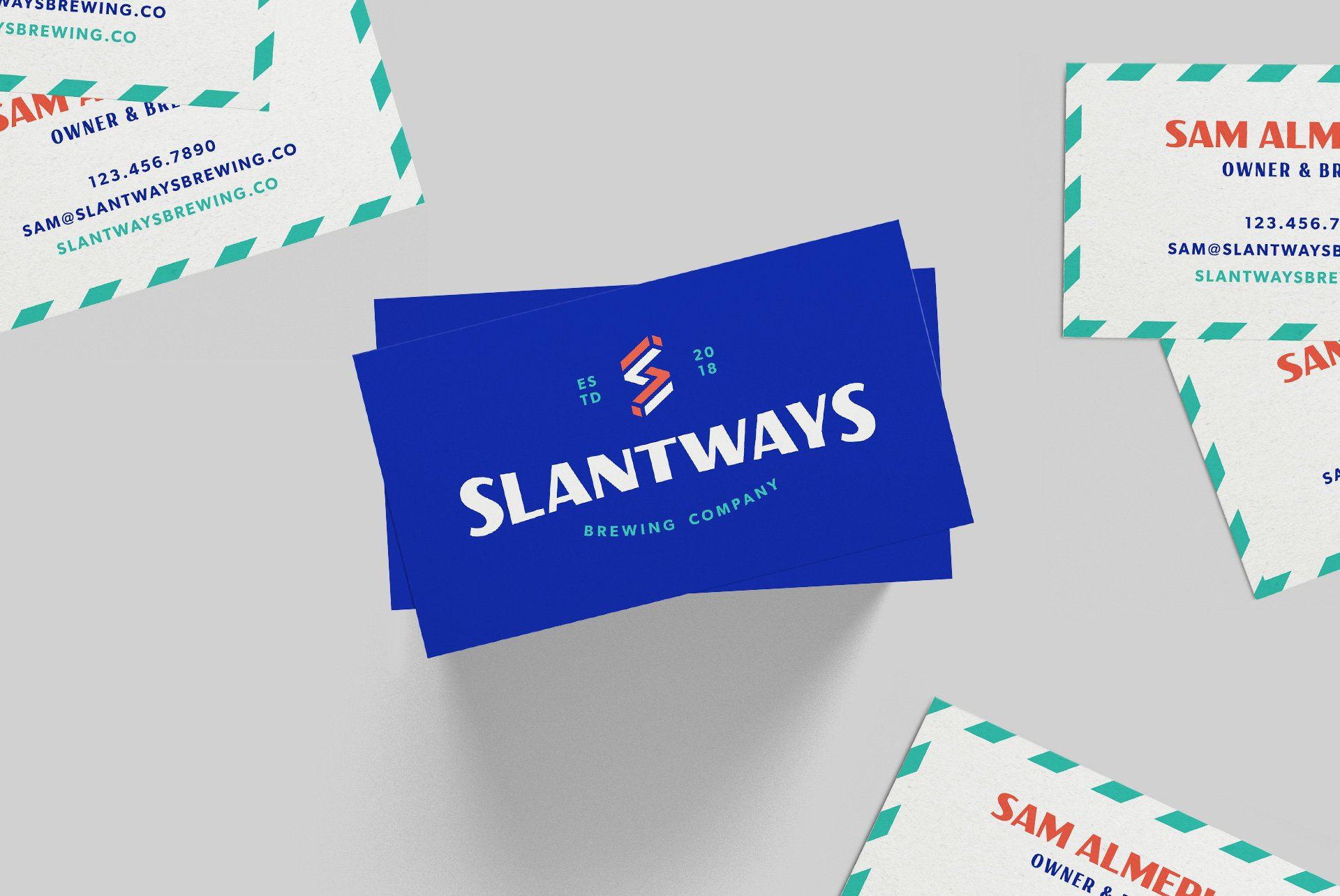 Slantways Brewing Company Business Card Design
