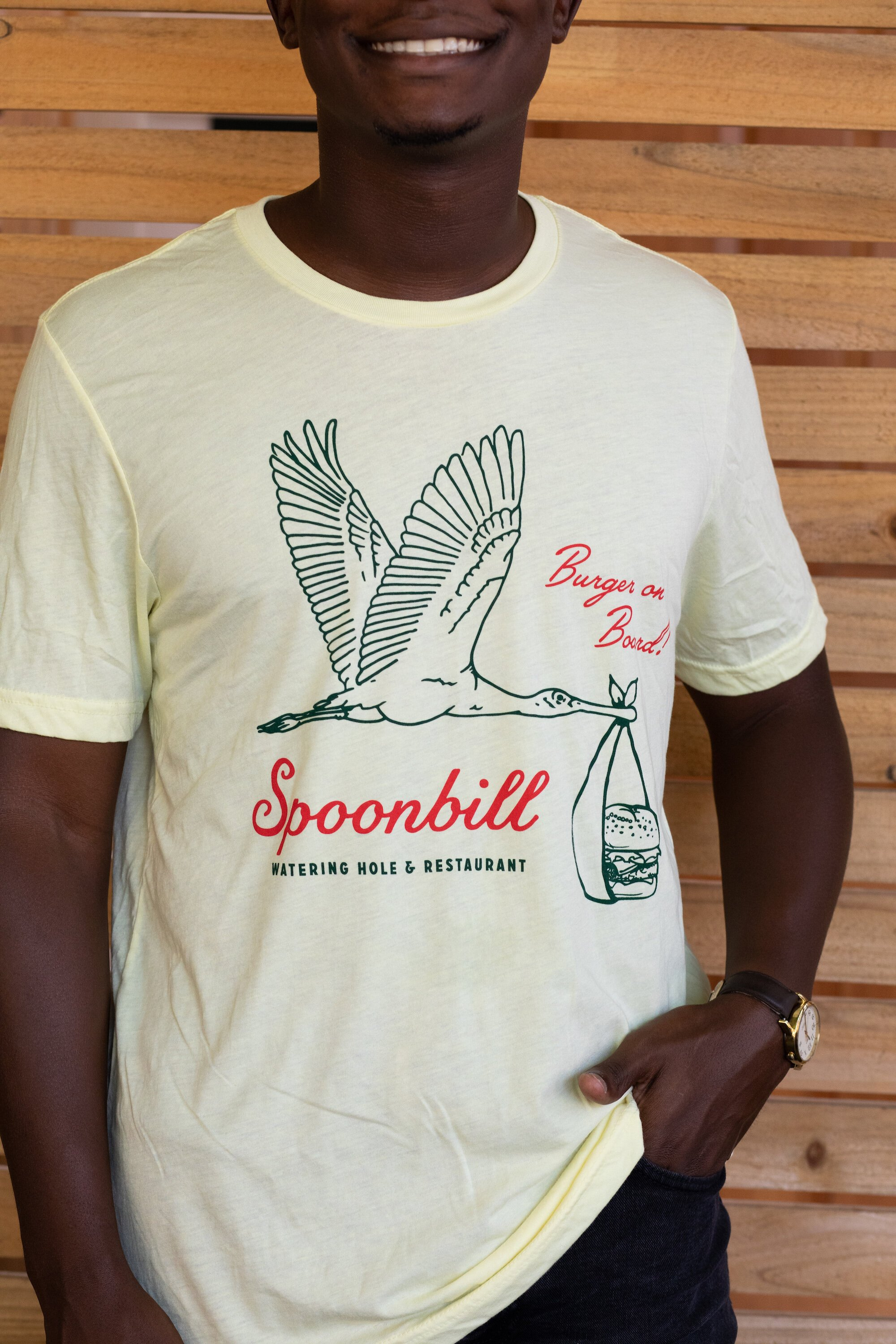 Burger On Board Spoonbill Shirt